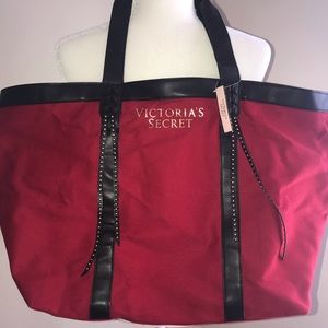 Victoria's Secret Red/Black Tote Bag